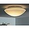 Plafonnier salle de bains verre AQUA MASSIVE Aqua blanc Ø26 x h.9,3 cm