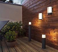 Potelet extérieur LED intégrée Philips Stock gris anthracite h.77 cm