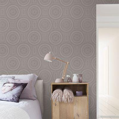 papier peint expans sur intiss lucete dentelle taupe castorama. Black Bedroom Furniture Sets. Home Design Ideas