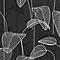 Papier peint expansé sur intissé Stitch palme noir