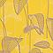 Papier peint expansé sur intissé Stitch palme jaune