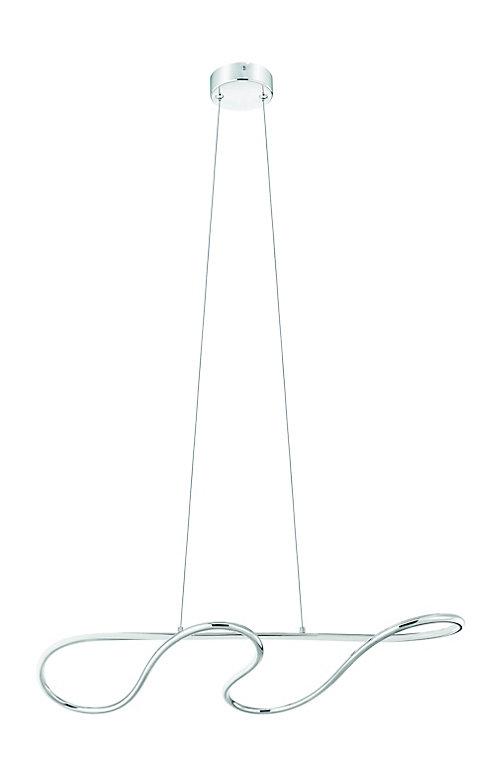 Suspension LED Dunalux Volute chrome l.28 x H.39 cm