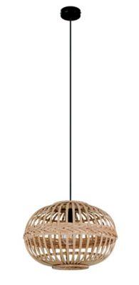Suspension dunalux nirasca noir l.38 x h.110 cm ?38cm