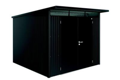 Abri de jardin métal Biohort Avantgarde A7 gris foncé double porte 7 8 m² ép.0 53 mm