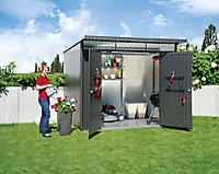 Abri de jardin en métal Biohort Avantgarde A7 gris foncé