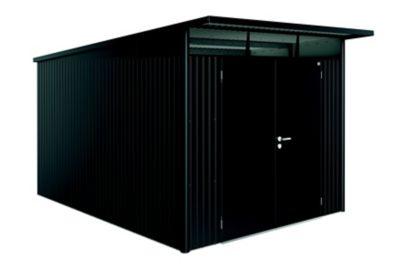 Abri de jardin métal Biohort Avantgarde A8 gris foncé double porte 9 88 m² ép.0 53 mm