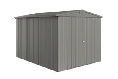 Abri de jardin métal Biohort Europa T6 gris quartz 7 32 m² ép.0 53 mm