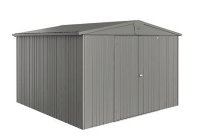 Abri de jardin métal Biohort Europa T7 gris quartz 9 48 m² ép.0 53 mm