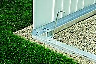 Cadre de sol pour abri de jardin métal Biohort Highline H4