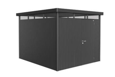 Abri de jardin métal Biohort Highline H5 gris foncé simple porte 8 66 m² ép.0 53 mm