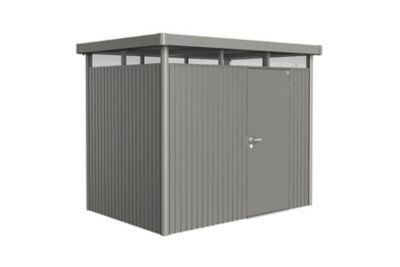 Abri de jardin métal Biohort Highline H2 gris quartz simple porte 5 36 m² ép.0 53 mm