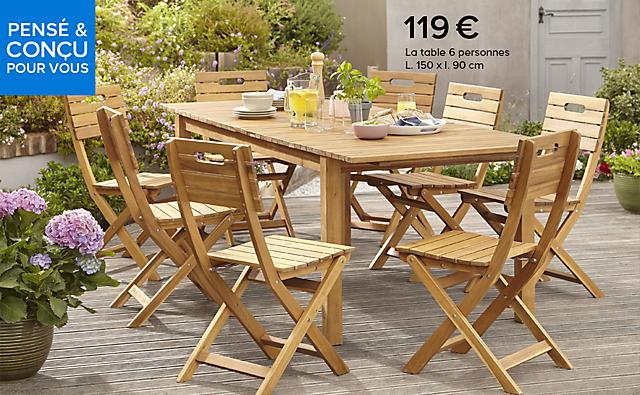 Le mobilier de jardin Denia | Castorama