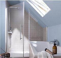 Douche sur mesure castorama - Paroi de douche en verre sur mesure ...