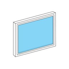 La fenêtre fixe sur mesure