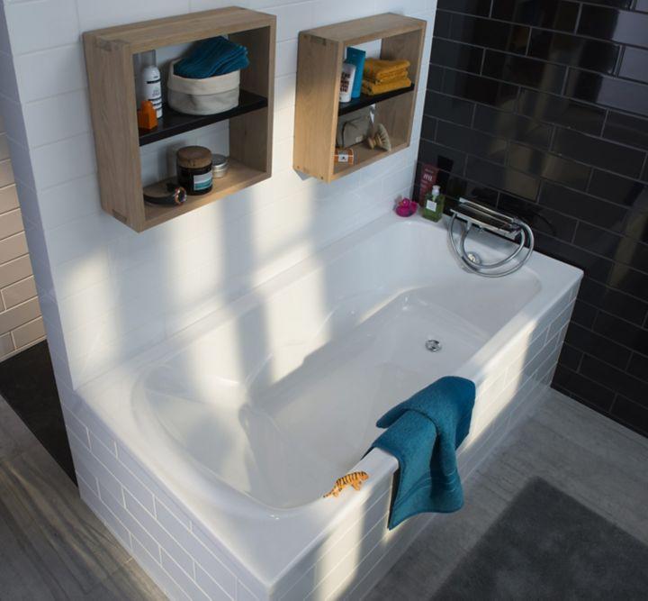agencer une salle de bains castorama. Black Bedroom Furniture Sets. Home Design Ideas