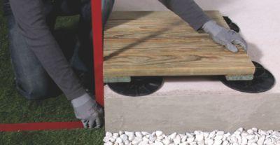 Installer Une Terrasse En Caillebotis Sur Plots