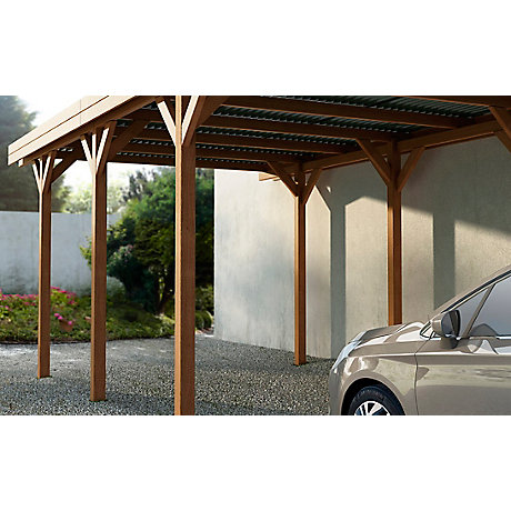 Abri serre carport garage rangement castorama for Abri garage jardin