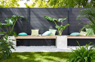 le composite with panneau separation jardin. Black Bedroom Furniture Sets. Home Design Ideas