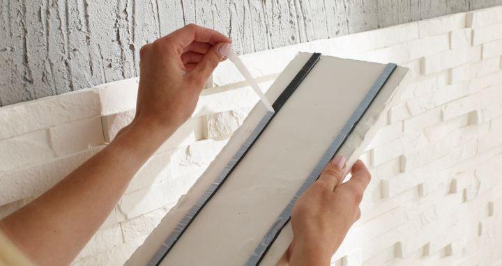 affordable prparer le support de pose de vos plaquettes de parement with plaquette de parement. Black Bedroom Furniture Sets. Home Design Ideas