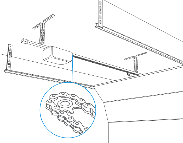 quelle motorisation de porte de garage choisir castorama. Black Bedroom Furniture Sets. Home Design Ideas