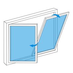 La fenêtre inclinable et pivotante sur mesure