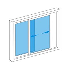 La fenêtre coulissante personnalisée