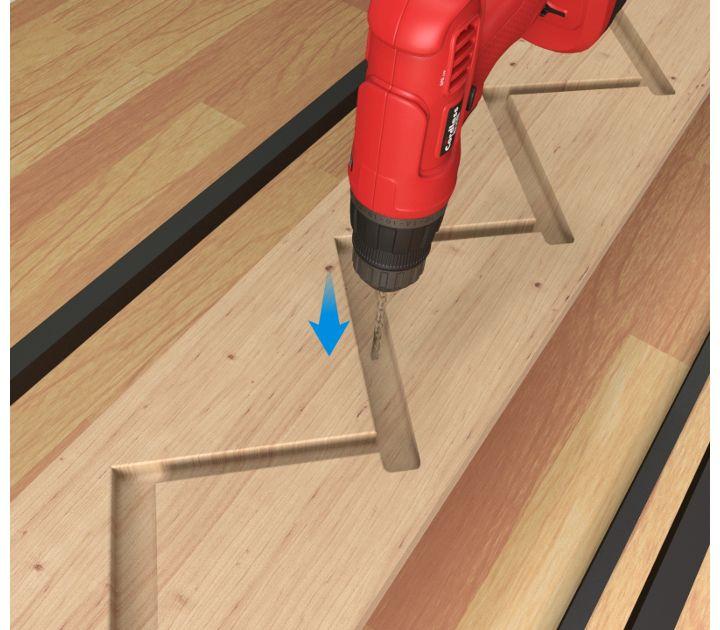Fixer le tasseau de support à l'étage