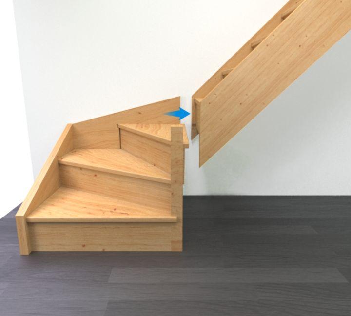 Préparer les éléments de l'escalier