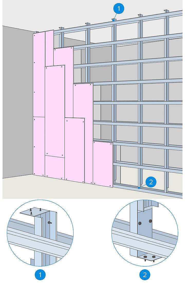 Hauteur Maximum Mur De Séparation comment monter une cloison de grande dimension | castorama