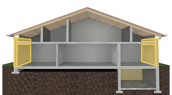Comprendre les structures et murs porteurs castorama - Les murs porteurs ...