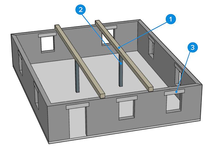 Comprendre les structures et murs porteurs castorama - Mur porteur maison ...