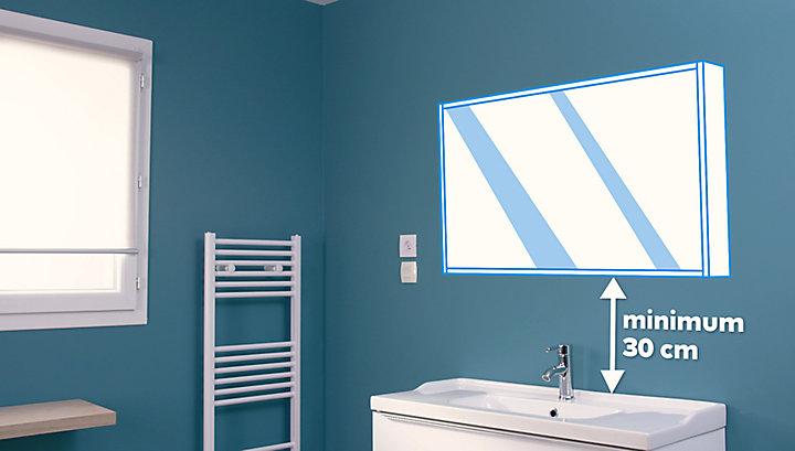 Poser un meuble de salle de bains