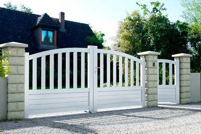 comment poser un portail portillon de jardin leroy merlin comment poser un portillon de jardin. Black Bedroom Furniture Sets. Home Design Ideas