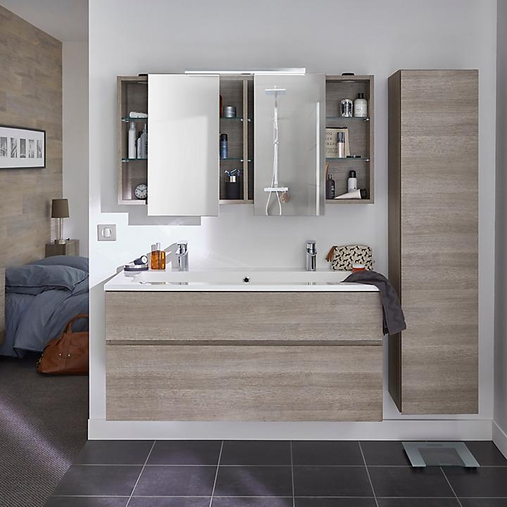 Meubles de salle de bains pamili castorama for Meuble salle de bain calao
