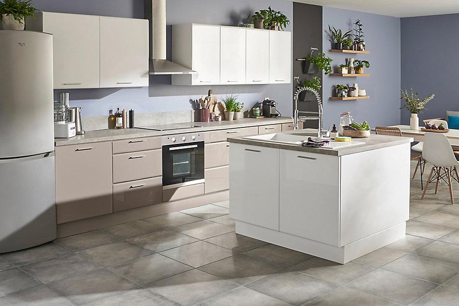 Les meubles de cuisine cooke lewis globe castorama for Poignee meuble de cuisine castorama