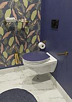 Abattant WC Allibert Kristal en thermodur avec frein de chute bleu nuit