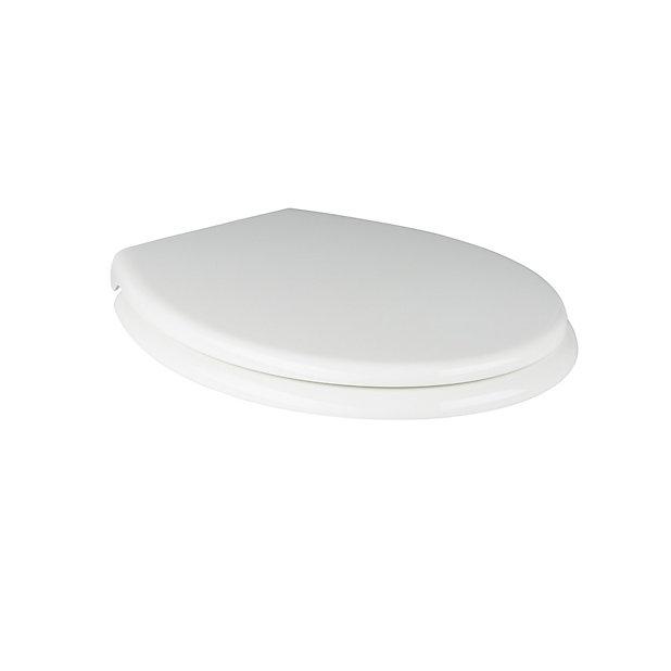 abattant wc carilo avec frein de chute plastique blanc cooke lewis