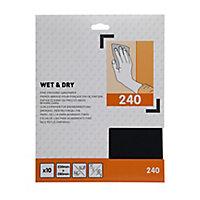 Abrasif Grain 240 pour support sec ou humide - 10 pièces