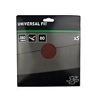 Abrasif pour ponceuse excentrique Universal ø 180 mm, Grain 80 - 5 pièces