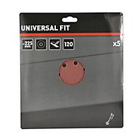 Abrasif pour ponceuse à plâtre Universal ø 225 mm, Grain 120 - 5 pièces
