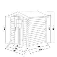 Abri de jardin bois Blooma Mokau, 3,46 m² ép.19 mm