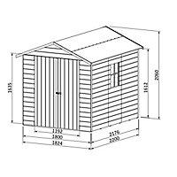 Abri de jardin bois Blooma Selwyn, 4,87 m² ép.12 mm