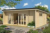 Abri de jardin bois monopente Java, 30,46 m² ép.44 mm