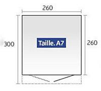 Abri de jardin métal Biohort Avantgarde A7 gris foncé, double porte, 7,8 m², ép.0,53 mm