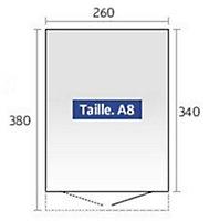 Abri de jardin métal Biohort Avantgarde A8 gris foncé, double porte, 9,88 m², ép.0,53 mm