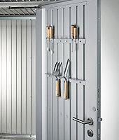 Abri de jardin métal Biohort Avantgarde A8 gris quartz, double porte, 9,88 m², ép.0,53 mm