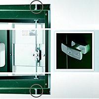 Abri de jardin métal Biohort Europa T2 gris foncé, 2,68 m² ép.0,53 mm