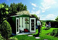 Abri de jardin métal Biohort Europa T3 vert, 3,81 m² ép.0,53 mm