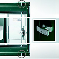 Abri de jardin métal Biohort Europa T4 gris foncé, 5,56 m² ép.0,53 mm