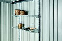 Abri de jardin métal Biohort Europa T6 gris quartz, 7,32 m² ép.0,53 mm